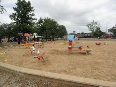 Warren Township Center playground sandbox