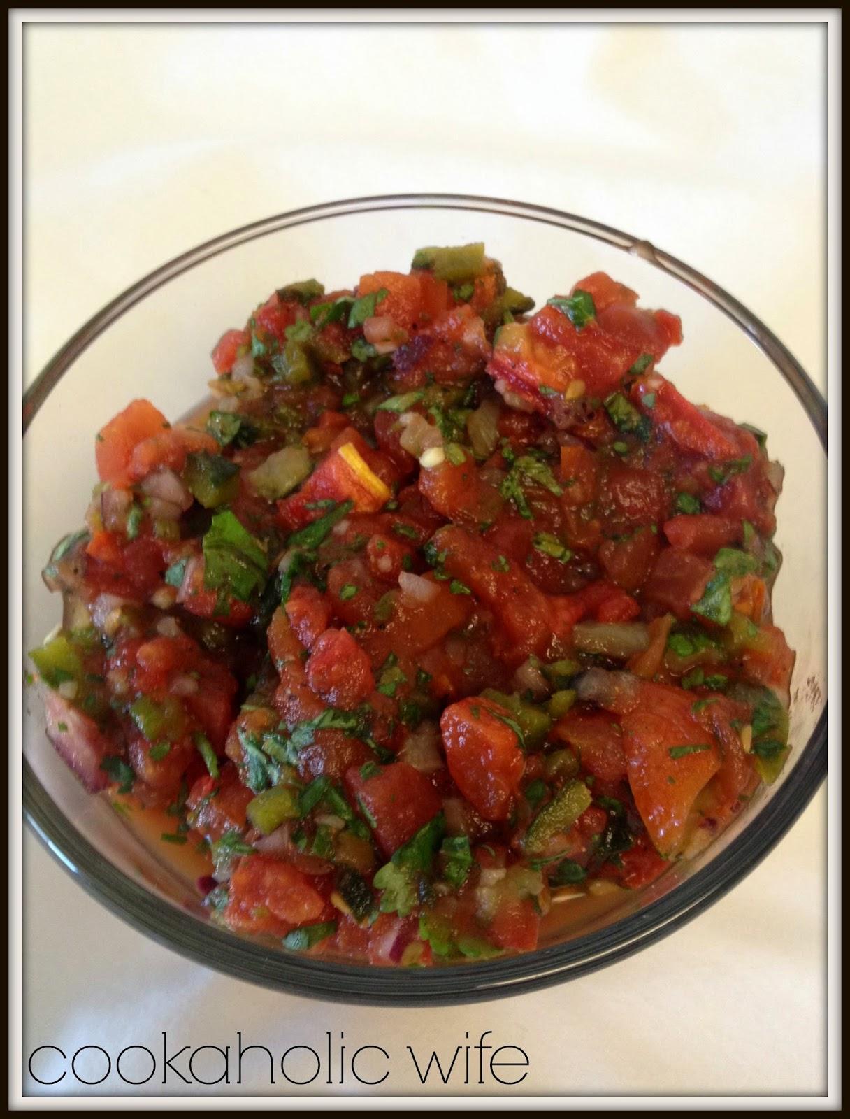 Cookaholic Wife: Roasted Tomato Salsa