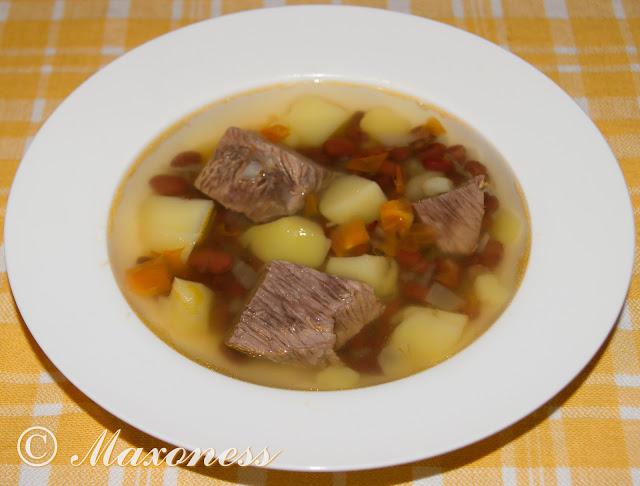 Суп с фасолью по-балкарски