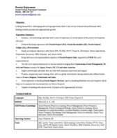 resume samples techno functional consultant resume