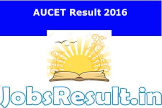 AUCET Result 2016