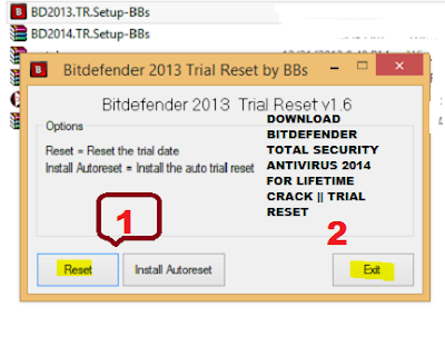 How To reset BITDEFENDER TOTAL SECURITY ANTIVIRUS 2014