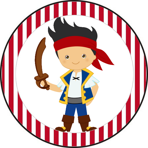 Jake and the Neverland Pirates Free Printable Toppers.