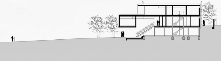 Section of Modern Haus SK in Austria