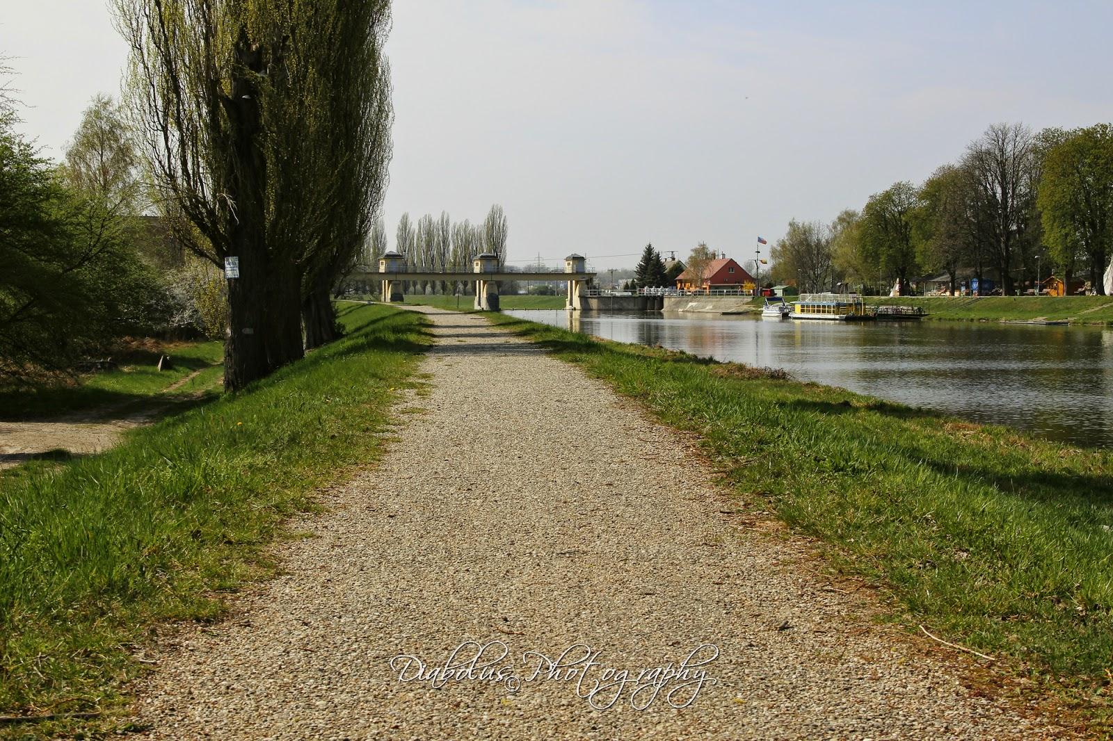 Morava - pohled na jez ze slovenské strany
