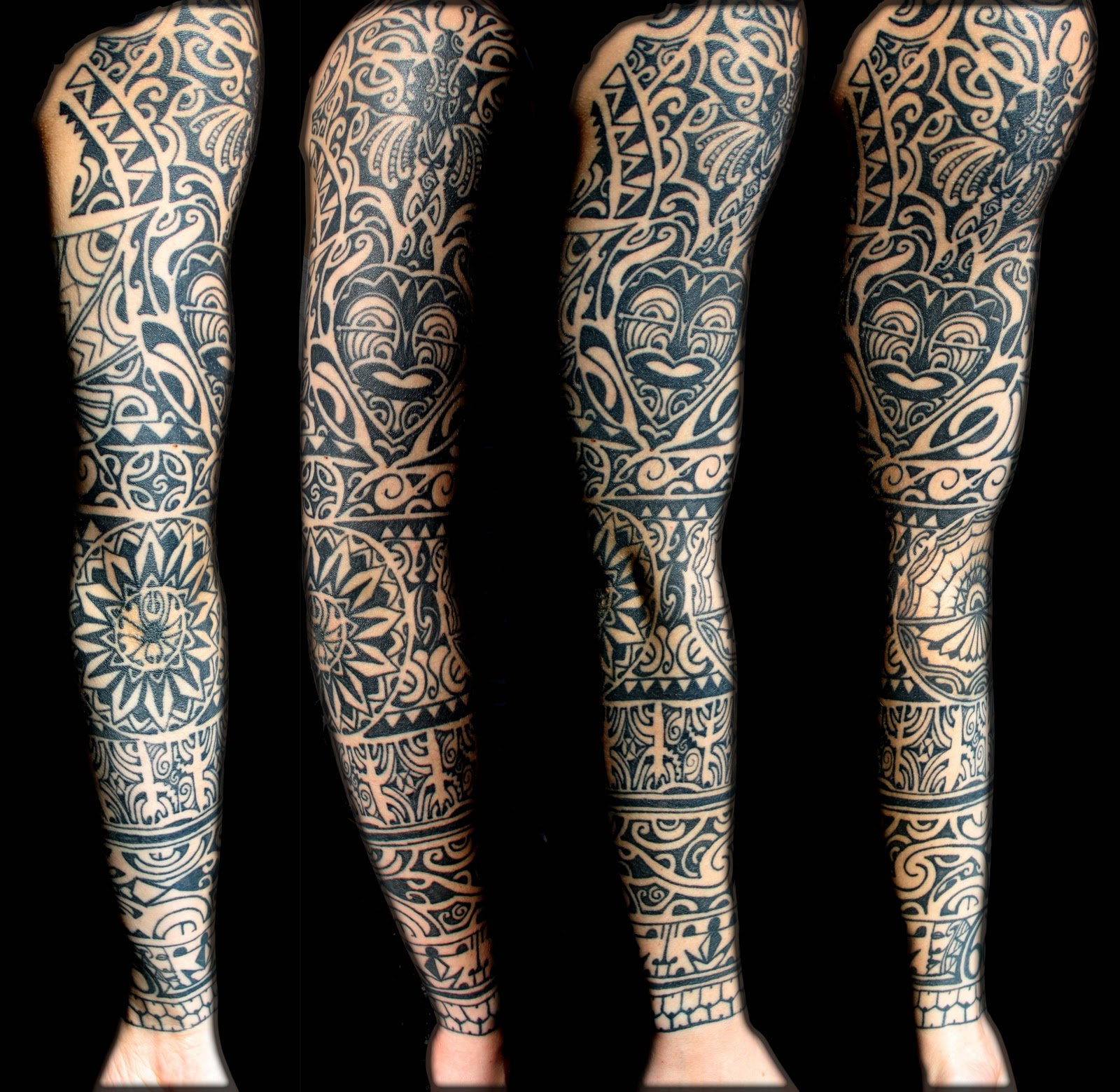 Full arm photo of my Polynesian tattoo