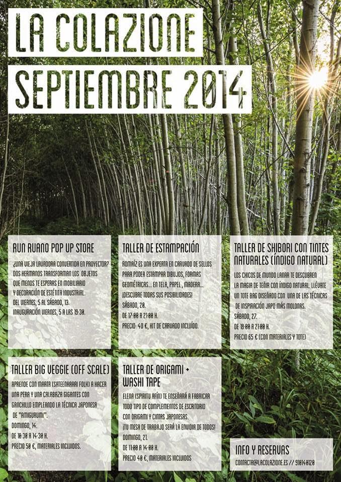 La Colazione cursos talleres septiembre 2014