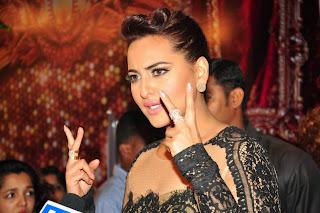 Actress Sonakshi Sinha Pictures in Long Dress at BIG STAR Entertainment Awards 2014 5
