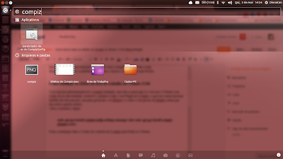 Compiz Settings Manager na Dash no Ubuntu 13.04