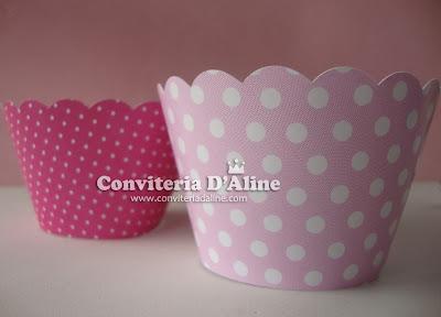 decoração festa rosa poá