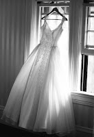 Wedding Dress Backlit by Window