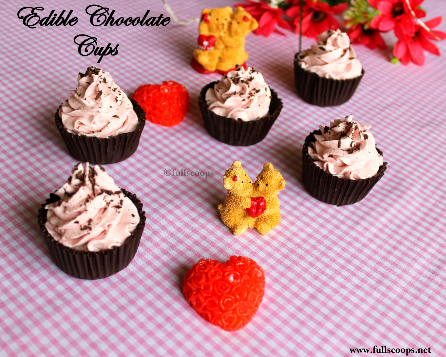 Dark Chocolate Filled Cupcakes