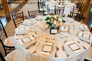 Les Fleurs : Barn at Gibbet Hill : Sarah Bastille Photography : wooden box centerpieces with soft green, pale peach, white and gray