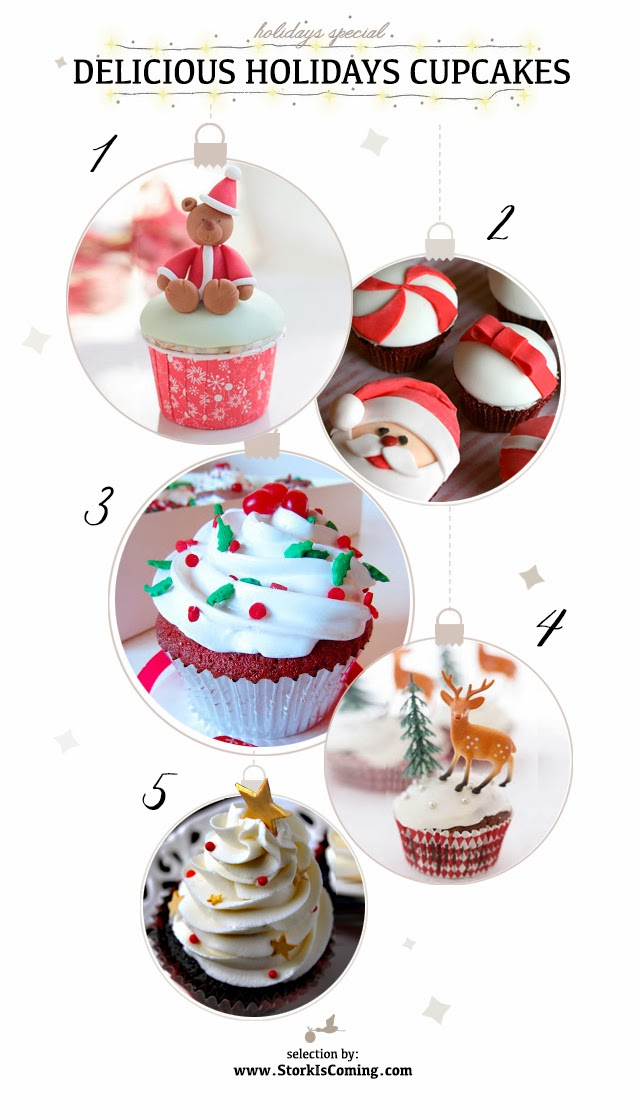 delicious cupcakes for christmas