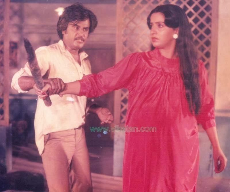 Rajinikanth & Ambika in 'Padikkathavan' (1985) Tamil Movie