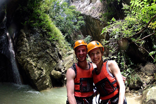 action adventure in moalboal, philippines