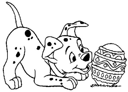 animal dog and easter coloring pages