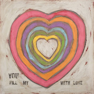 fill my heart with love rainbow art for girls