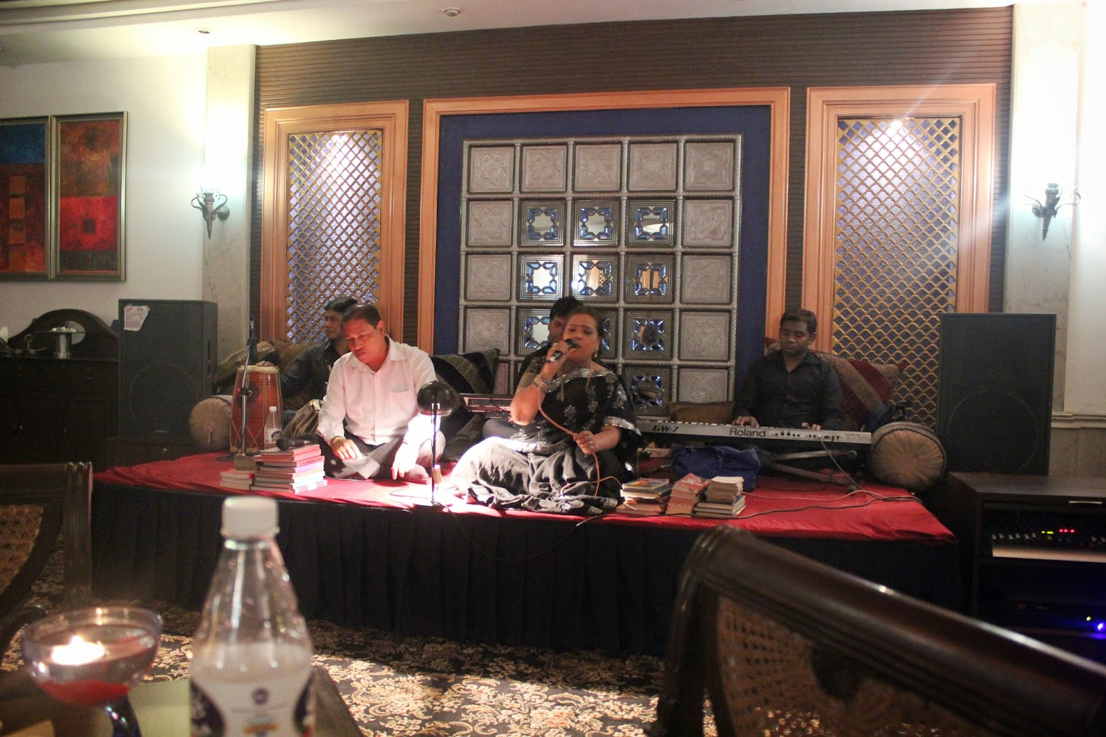 Kumar Bappa and Madhvi Bose - The Luscious Mughlai,Lucknowi food @ zaffran The Bristol Hotel, Gurgaon
