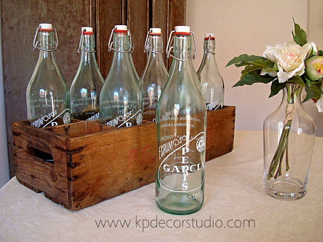 botellas vintage de limonada para boda verano
