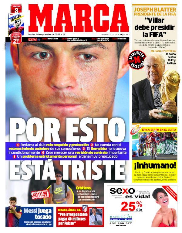 Cristiano Ronaldo querría irse del Real Madrid