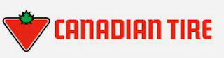 image Canadian Tire Banner  Red inverted triangle topped with green Maple Leaf
