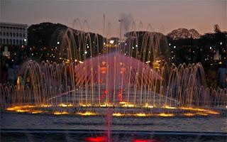 Brindavan Garden fountains