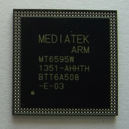 MediaTek ARM Cortex-A17 MT6595 Octa-Core CPU