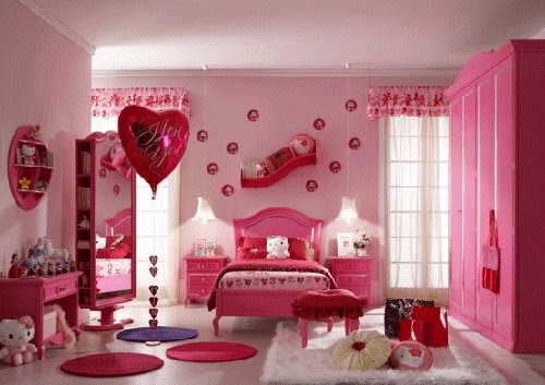 romantic girls bedroom pink ideas