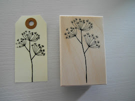 Holzstempel Blume