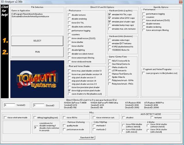 3D Analyze 2.36 Default Settings