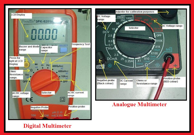 Difference between Digital & Analogue Multimeter