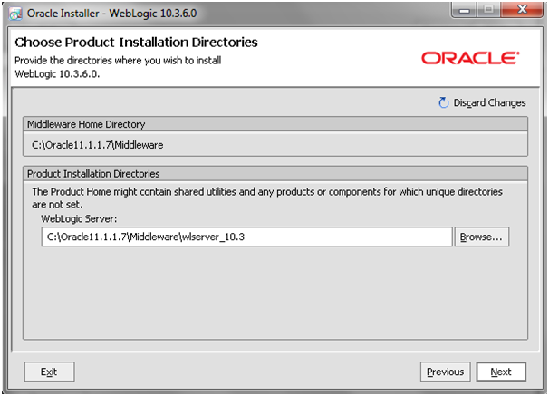 Weblogic10.3.6_Installation_Middleware_Path