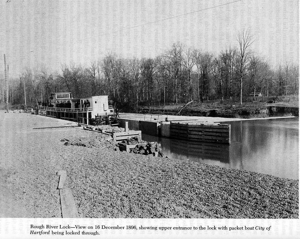 ohio county  kentucky history  rough river lock at