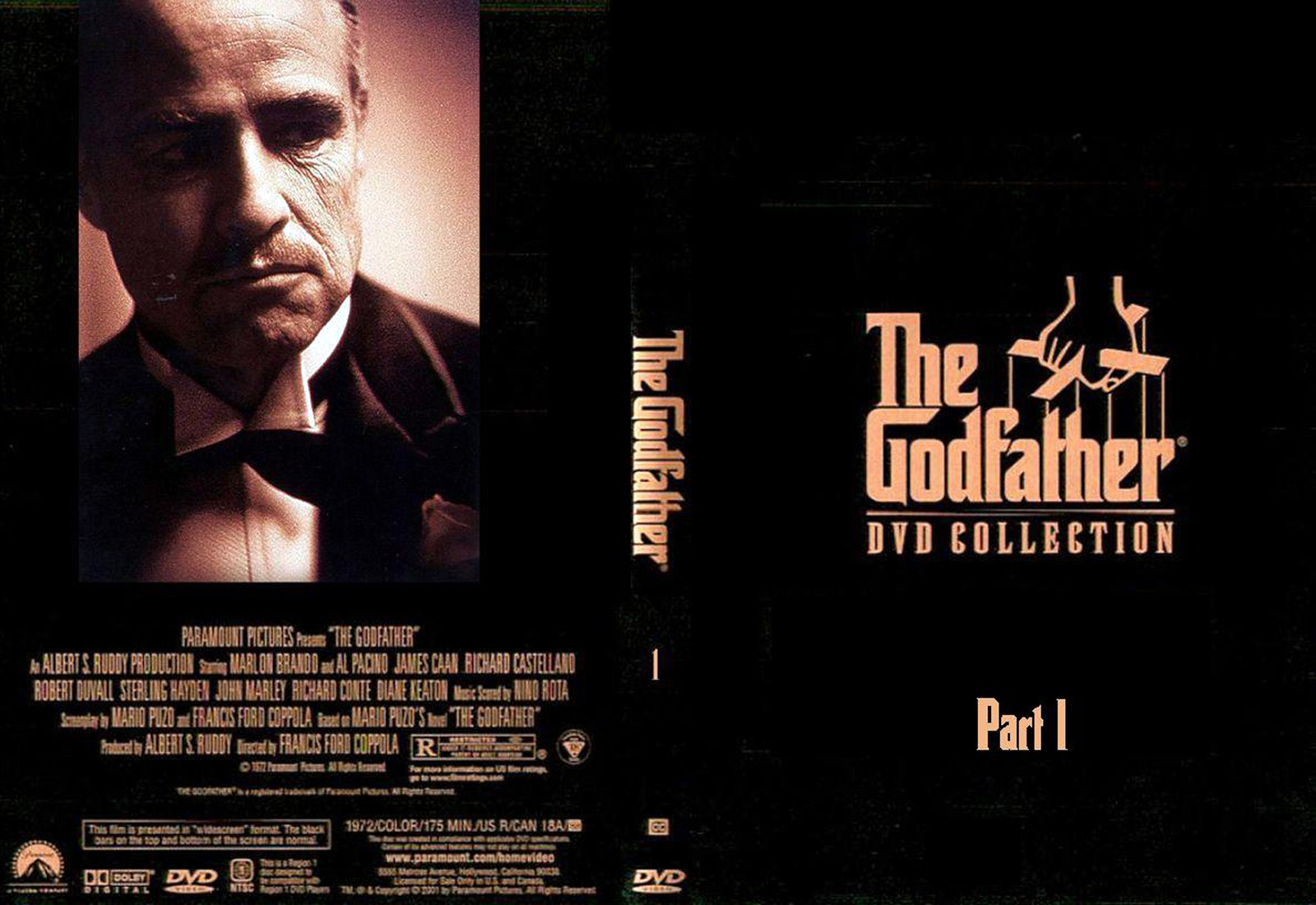 The Godfather1 Dvd Disk Cover