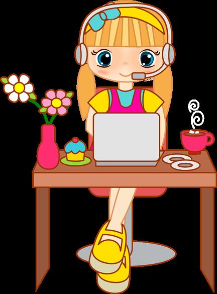 Telefonista trabajando