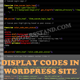 How To Display Code syntax highlighter In Wordpress Site