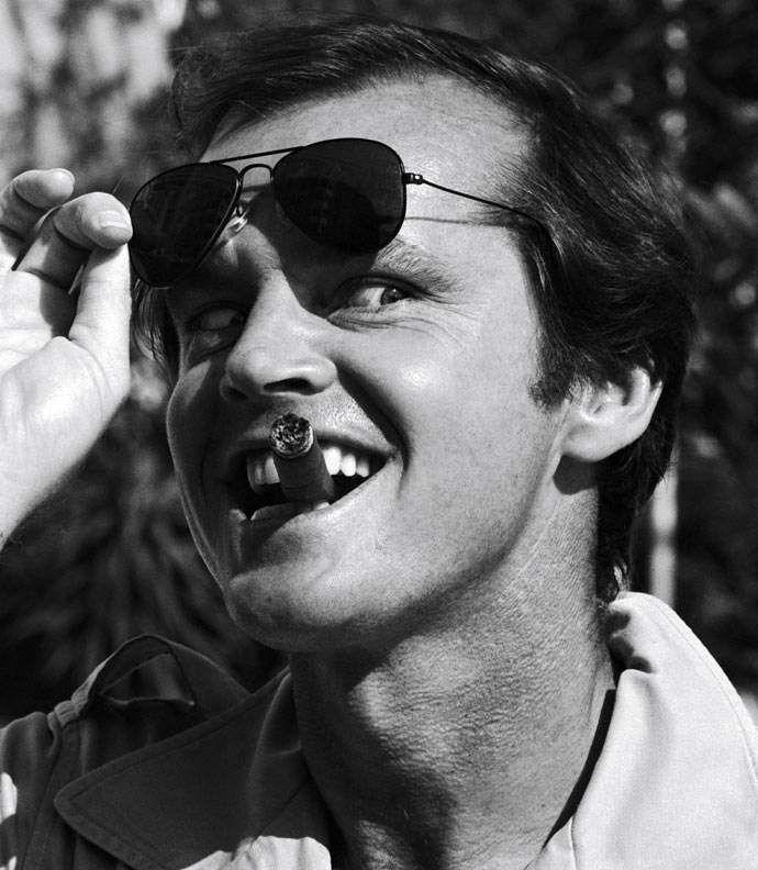 50 Shades: Jack Nicholson wears Ray-Ban Aviator. Photo Giribaldi/Gamma-Rapho via Getty Images