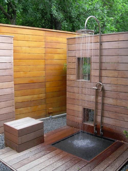 Une douche dans son jardin caract rielle for Douche exterieur design