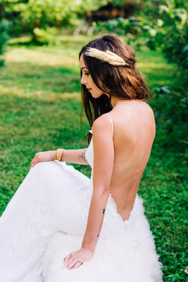 Seattle bridal shop The Dress Theory carries low back and backless wedding dresses