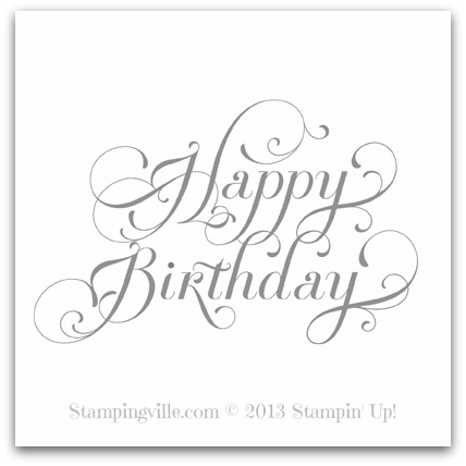 Stampin' Up! Beautiful Birthday Digital Stamp Brush