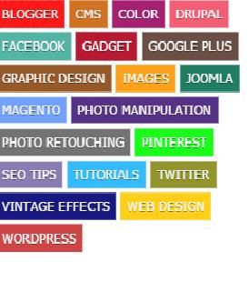 Labels Coloridas no Blogger