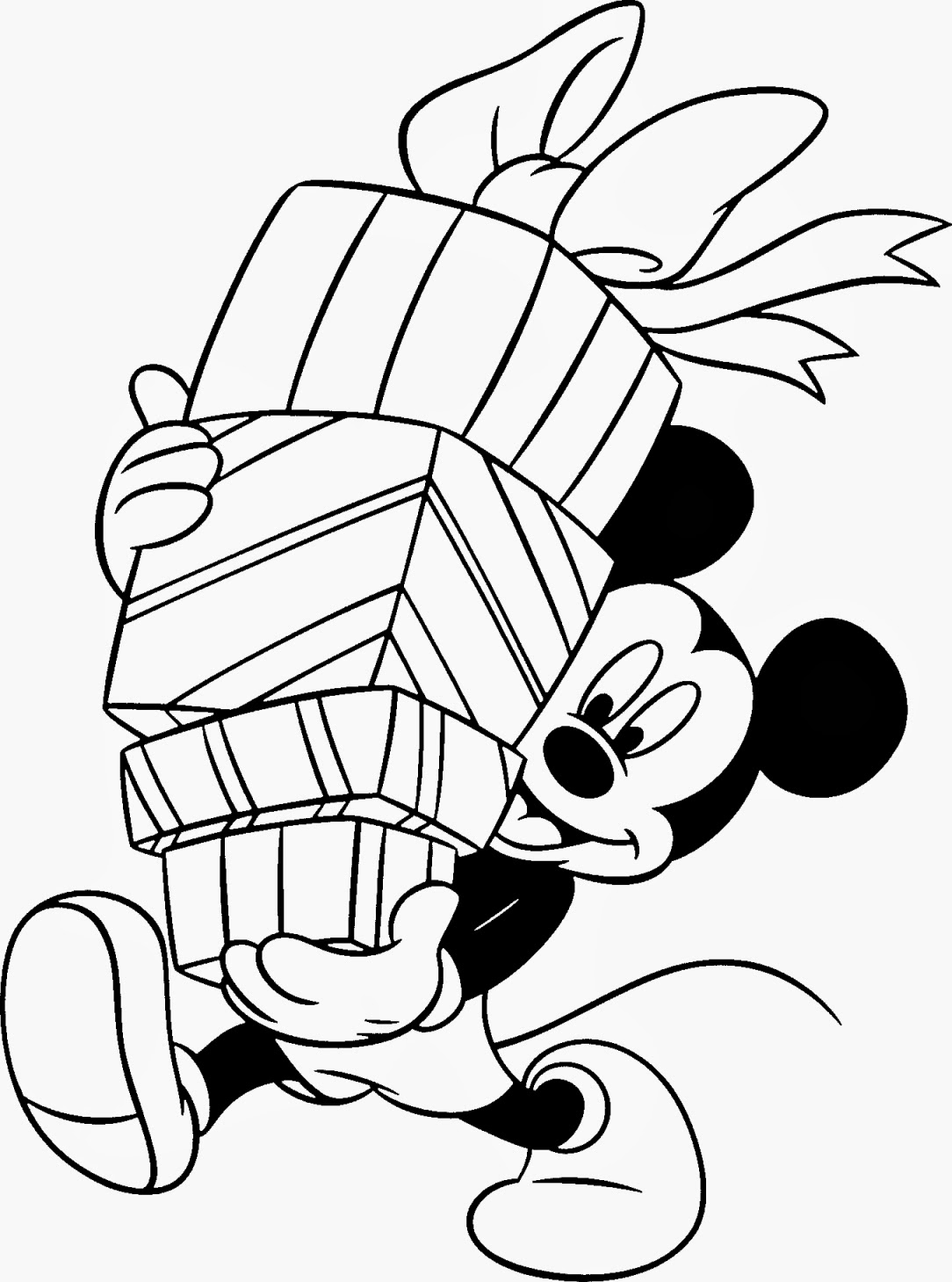 Top 10 disney christmas coloring pages for kids for Disney christmas printable coloring pages