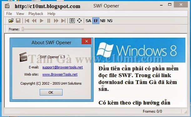 Software SWF Flappy Bird Offline Windows 8