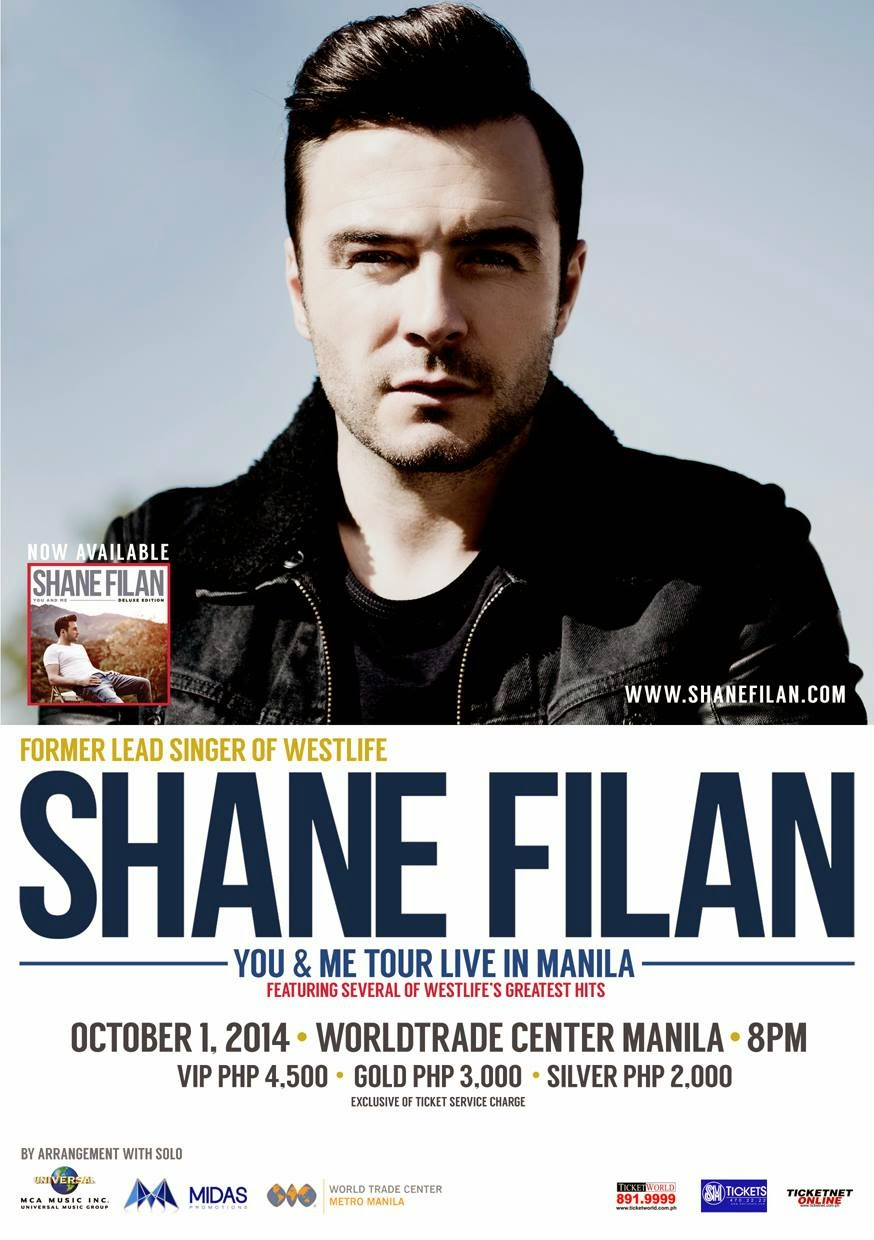 Shane Filan You And Me Tour