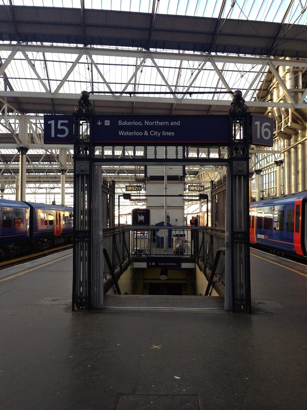 Entrance to the London Underground, Waterloo station, London