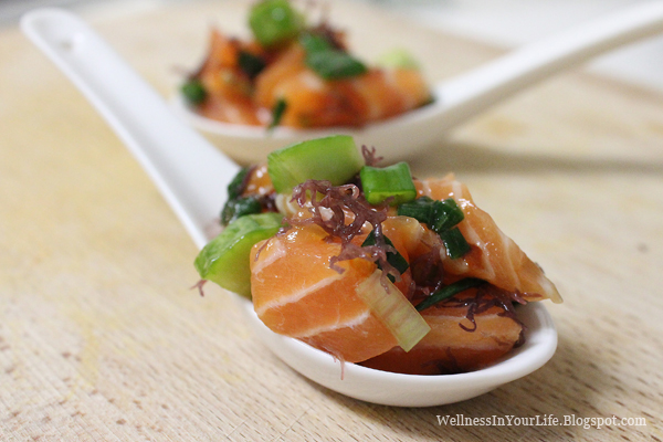 Cooking for a healthier lifestyle salmon poke for Sushi grade fish
