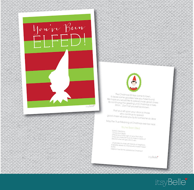 image regarding You've Been Elfed Free Printable named FREEBIES Youve Been Elfed! Spreading Xmas Cheer