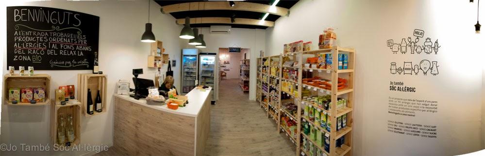 intolerància aliments, al·lèrgic aliments, sense gluten botiga barcelona