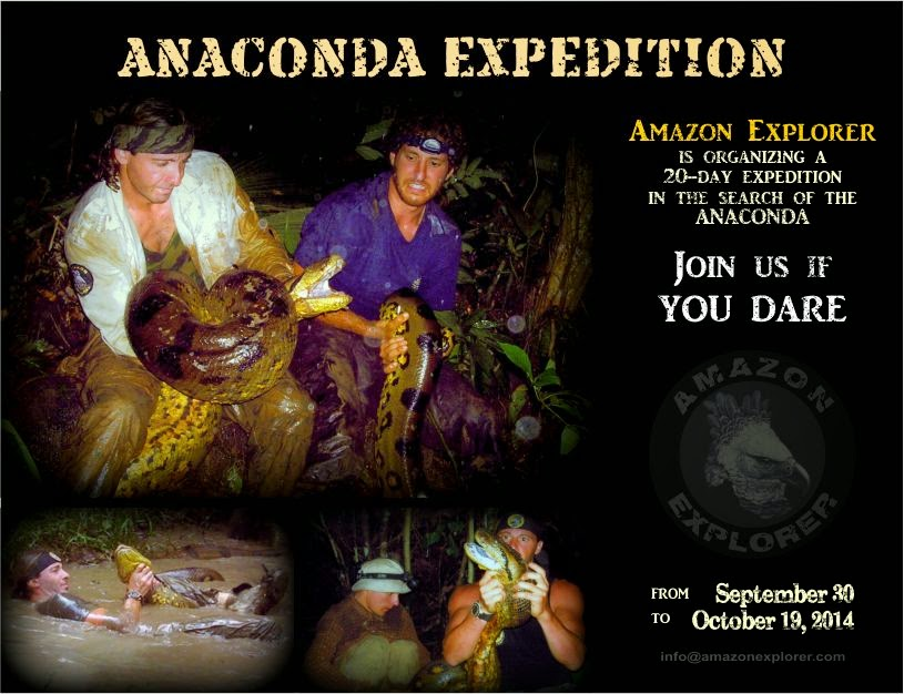 Anaconda Expedition. Amazon Explorer. Iquitos Peru.